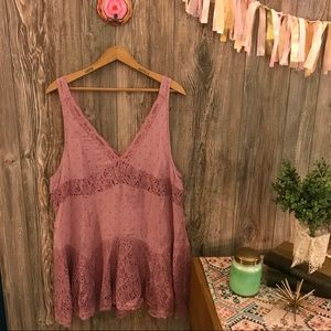 {intimately free people} dusty orchid slip dress s